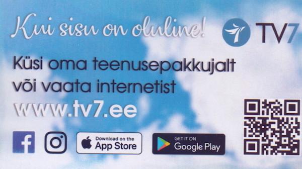 TV7 reklaamkaart